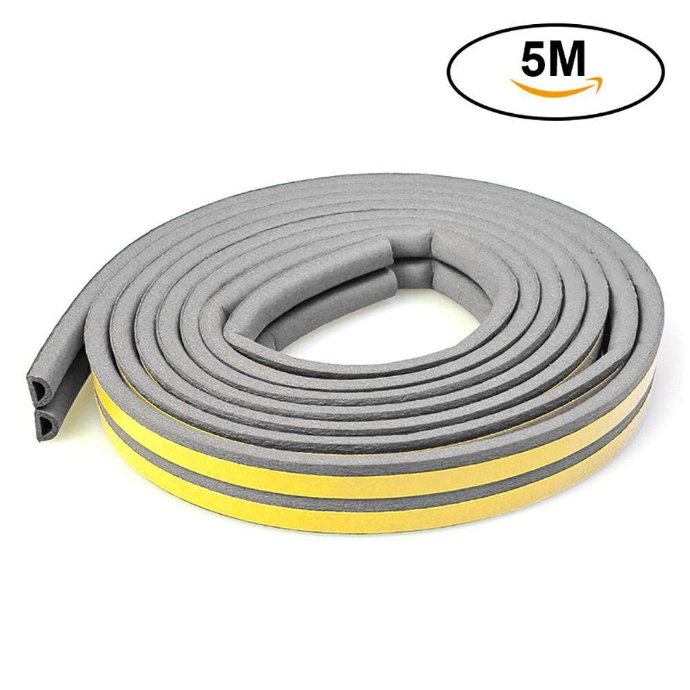 OrzBuy Double I type Weatherstrip Doors Windows Seal Strip Soundproof  Dustproof and Pest Control Self-Adhesive EPDM Tape Weather Stripping for  Home