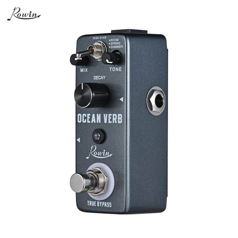 Rowin Ocean Verb Digital Reverb Guitar Effect Pedal 3 Modes ROOM/ SPRING/ SHIMMER Aluminum Alloy Shell True Bypass Malaysia