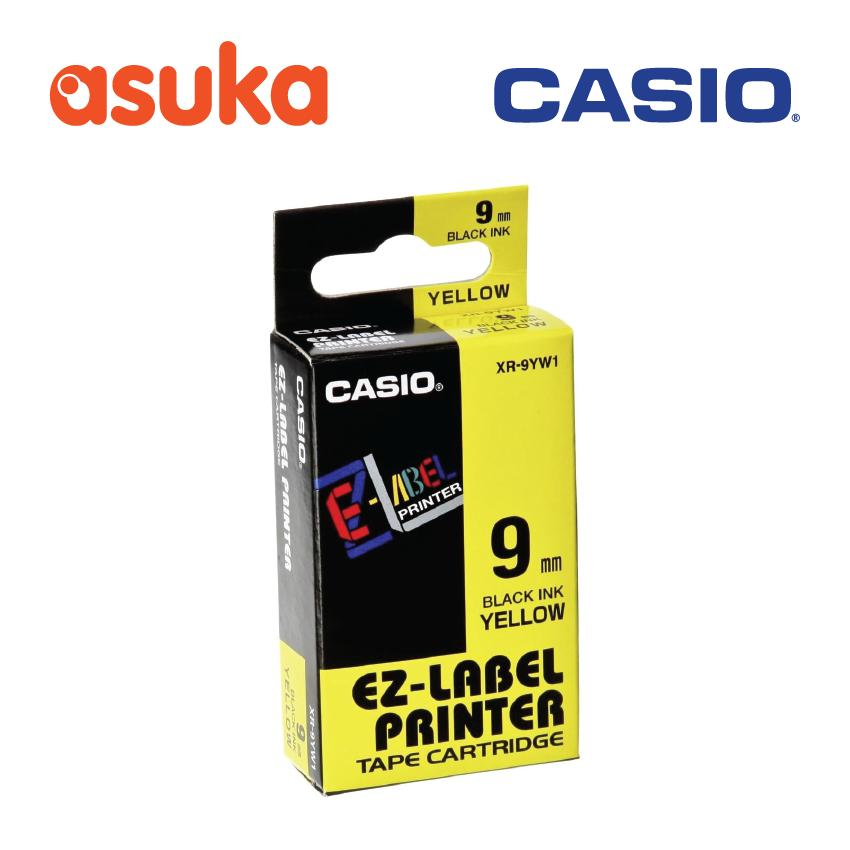Casio Ez-Label Printer Yellow Tape/ Black Ink Xr-9yw1 By Asuka Express