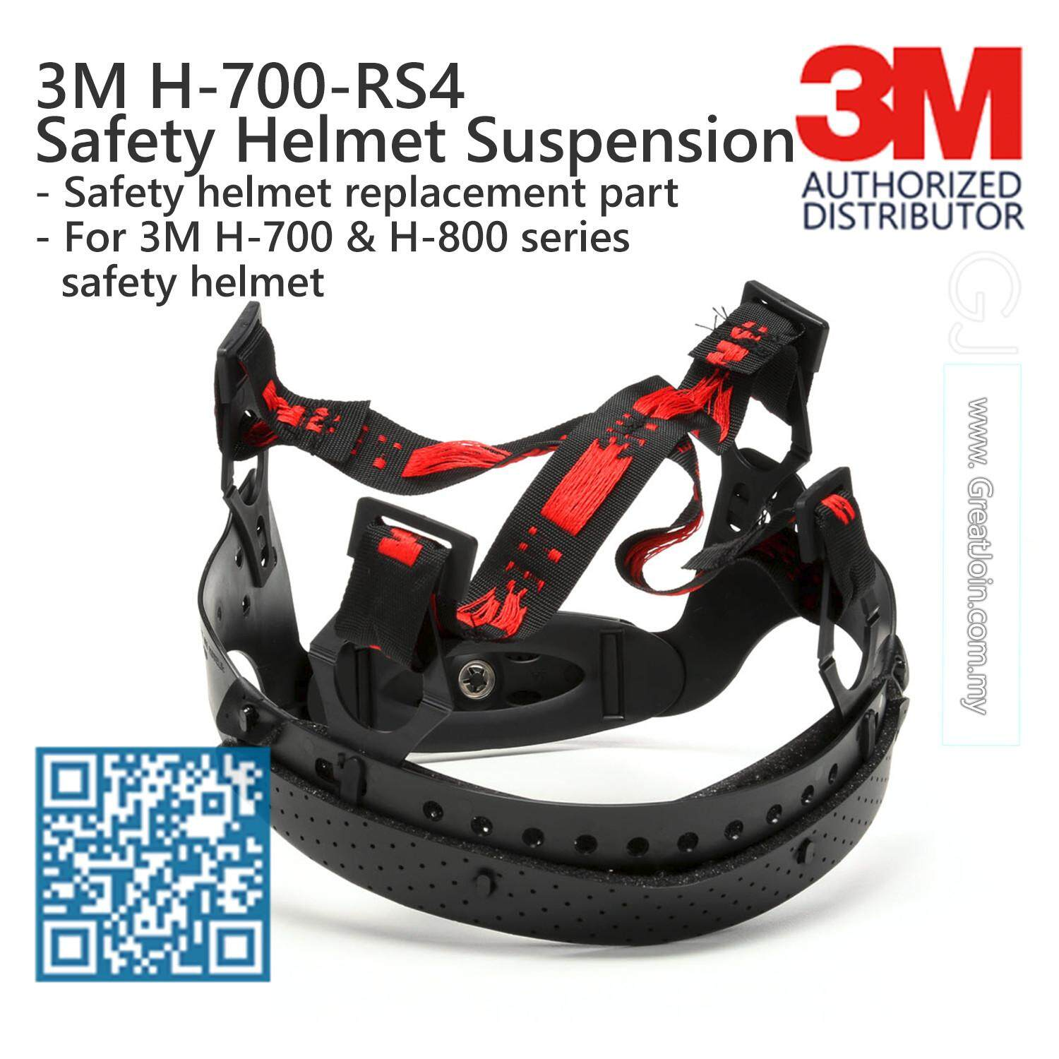 3M H-700-RS4 Safety Helmet Suspension Replacement/ Suspension Suitable for All 3M Helmet H-700 / H-800 Series [Suspension only, Not Including Safety Helmet] [1 piece]