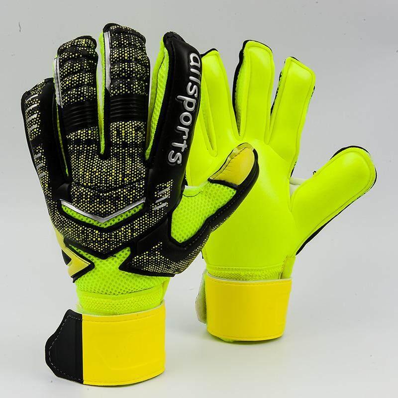 Professional Goalkeeper Gloves Finger Protection Thickened Latex Soccer Football Goalie Gloves Goal keeper Gloves(orange)