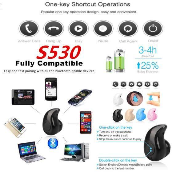 LISSNG S530 Mini Wireless in ear Earpiece Bluetooth Earphone S530 Hands free Headphone Built-in