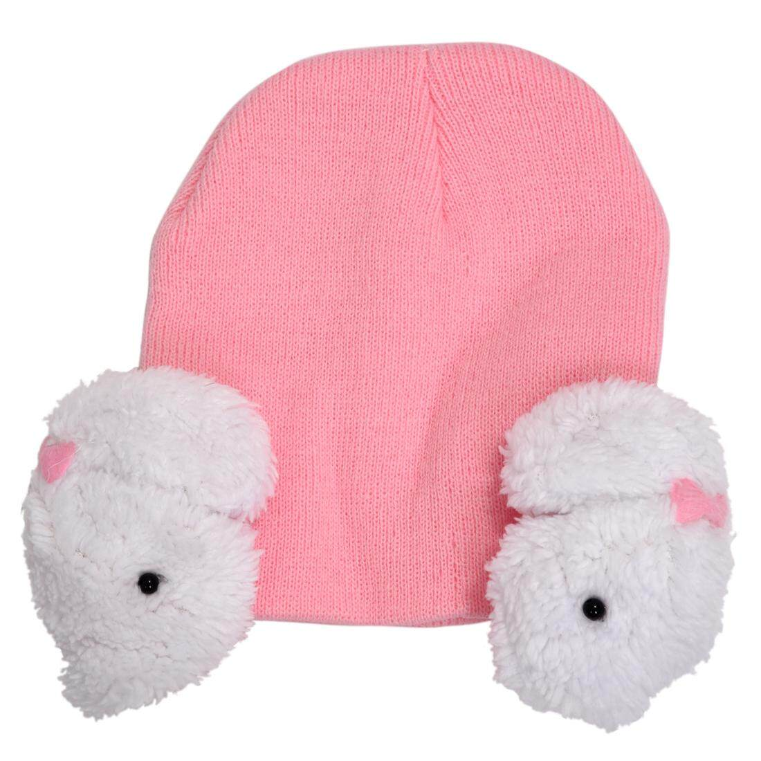 Baby Toddler Kids Boys Girl Winter Ear Flap Warm Hat Beanie Cap Crochet  Rabbit Pink 69c67e62dfa4