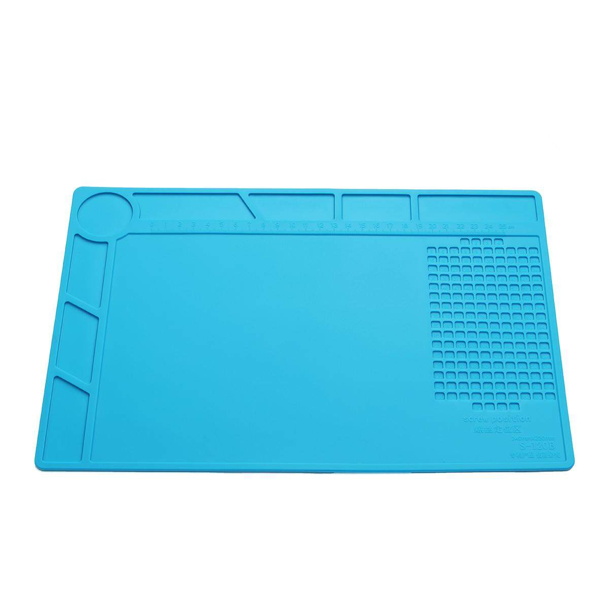 14x9inch Anti Static Heat Insulation Silicone Desk Mat For Phone Computer Repair Malaysia