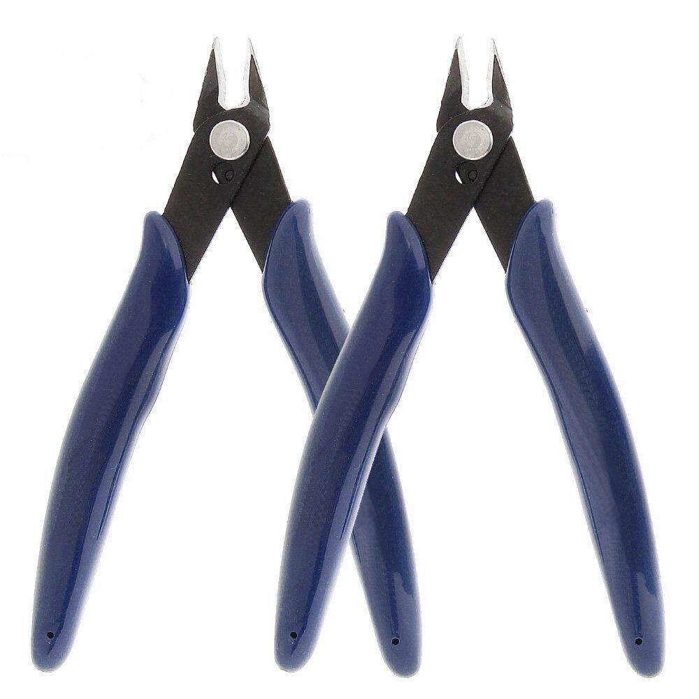 2Pcs Flush Cutter Soft Wire Cutter 13.5CM Flush Cut Pliers
