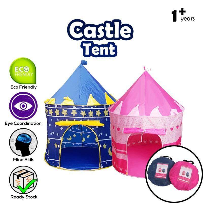 Portable Folding Kids Play Catle Tent Cubby House Toy Toys Gifts (blue) By Cw Online.