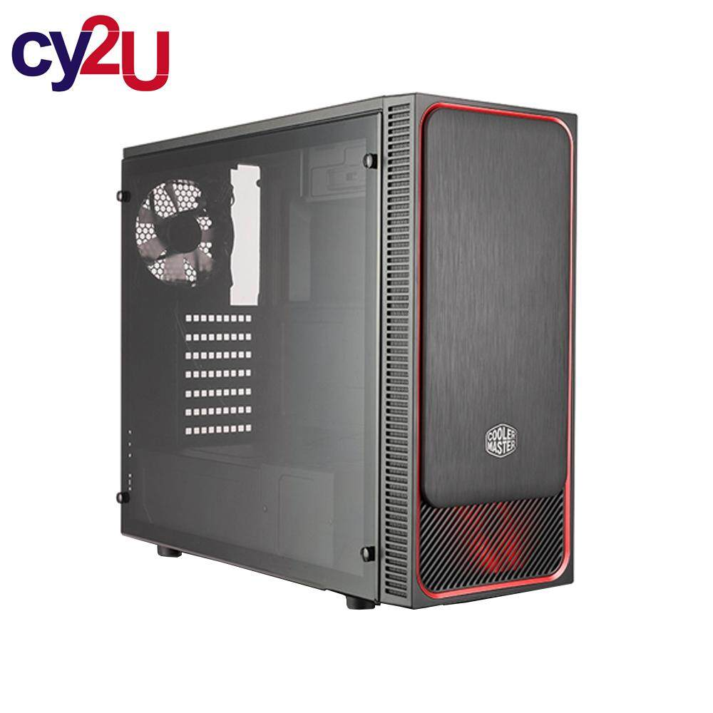 Cooler Master MasterBox E500L ATX Chassis (Red) Malaysia
