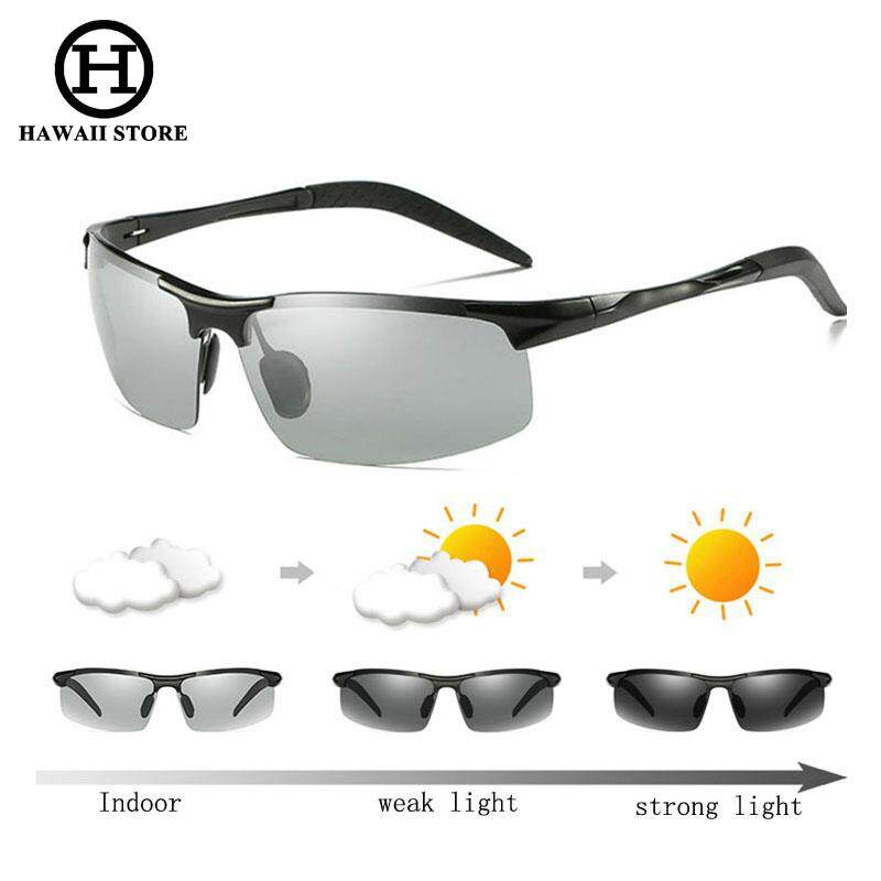f8acf93aab Hawaii Day Night Photochromic Polarized Sunglasses Men s Sunglasses for  Drivers Male Safety Driving Fishing UV400 Sun