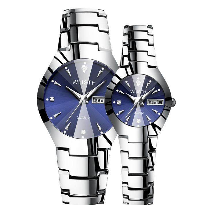 Couple Watches Ladies Models WLISTH Women Luminous Watches Tungsten Steel Color Waterproof Fashion Women's Watches Female