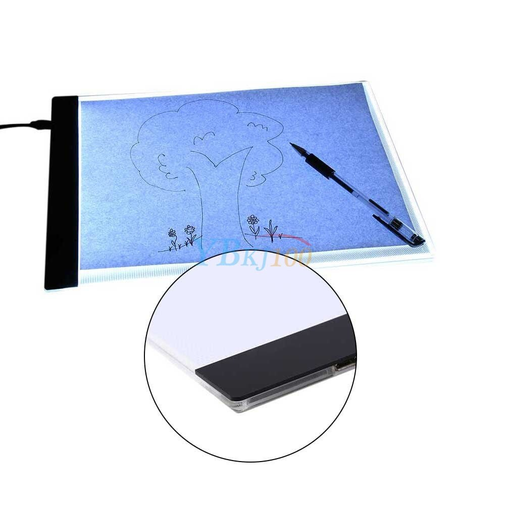 Art Sets A4 Led Art Stencil Board Light Pad Tracing Drawing Table Board For Kids Artists With Cable Office & School Supplies