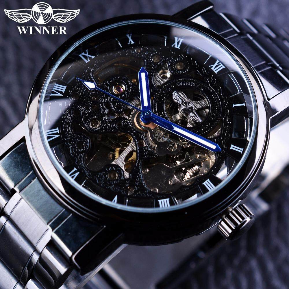 WINNER black stainless steel mens automatic mechanical watch Malaysia