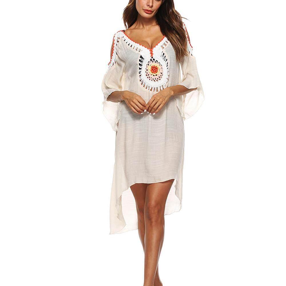 c13224c89f Genmoment Women Loose Swimsuit Bikini Stylish Beach Cover Up Sunscreen  Shirt Bikini Smock