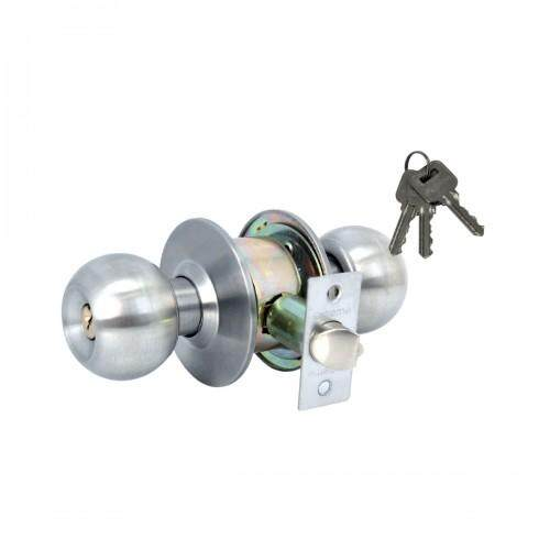 Cylindrical Door Lock / Knob Lock C/W 60mm Back Set