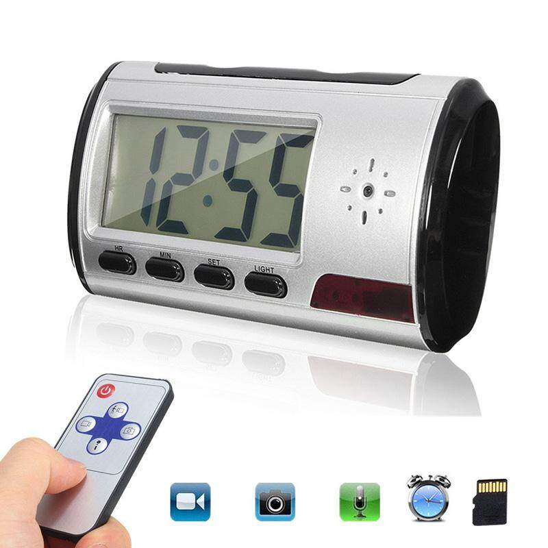 Mini Motion Detection Alarm Clock Hidden Spy Cam Camcorder High Definition