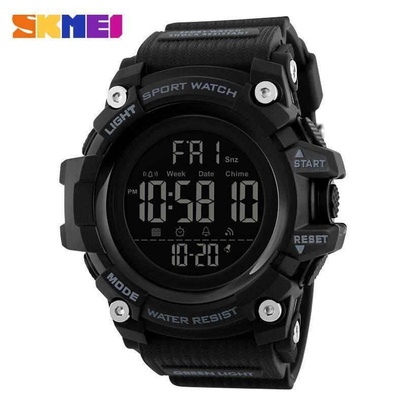SKMEI Men Sports Watches Digital Outdoor Watches LED Electronic Dual Display Waterproof Wristwatches Jam tangan lelaki 1384 Malaysia