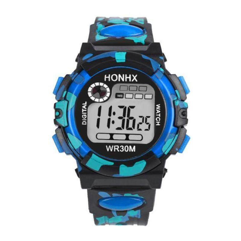 Docesty Kids Child Boy Girl Multifunction Waterproof Sports Electronic Watch Watches BU Malaysia