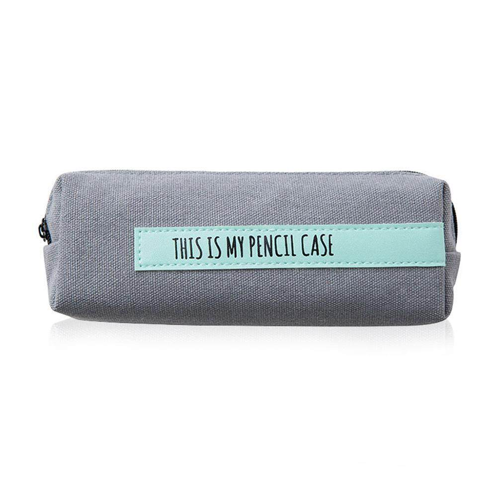 330df25ebff2 Treeone Canvas Pencil Case, Premium Quality Personalized Simple and Stylish  Large Capacity Pen Storage Bag Pouch With Zip for Teens Boys Girls