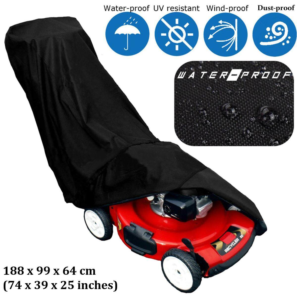 Durable 420D PA Waterproof Fabric Lawn Mower Protective Storage Cover