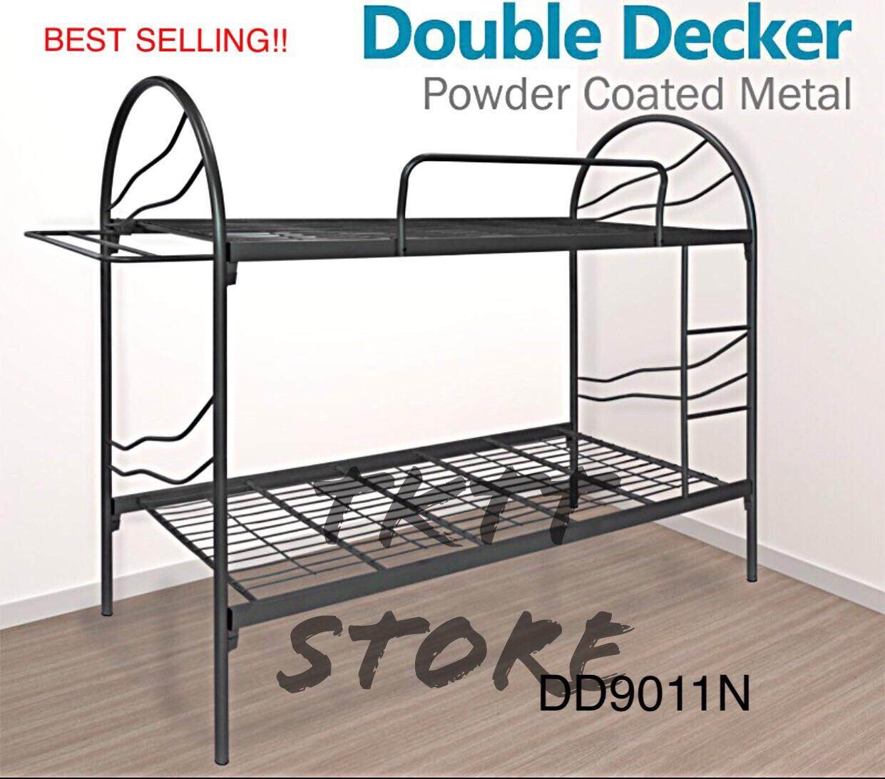 Tktt Dd9011n 3v Heavy Duty Full Metal Single Double Decker Bed/ Bunk Bed/ Hostel Divan/ 2 Tiers Bed Frame/ Katil 2 Tingkat Bermutu Tinggi/ Katil Besi/ Katil Hostel/ Katil Besi Kuat/ Katil Bujang (random Colour) By Tktt Store.