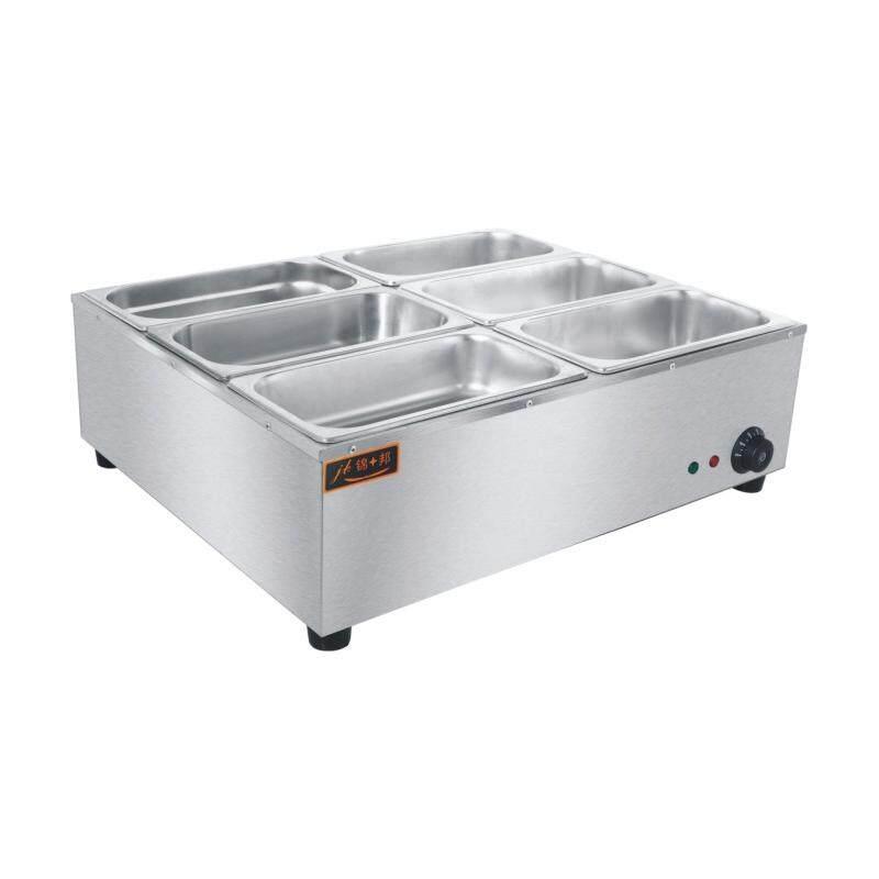 Jinbang Jb-Tc6 2kw 6-Tank Shallow Electric Bain Marie Food Warmer (silver) By Hikitch Kitchen Equipment Store.