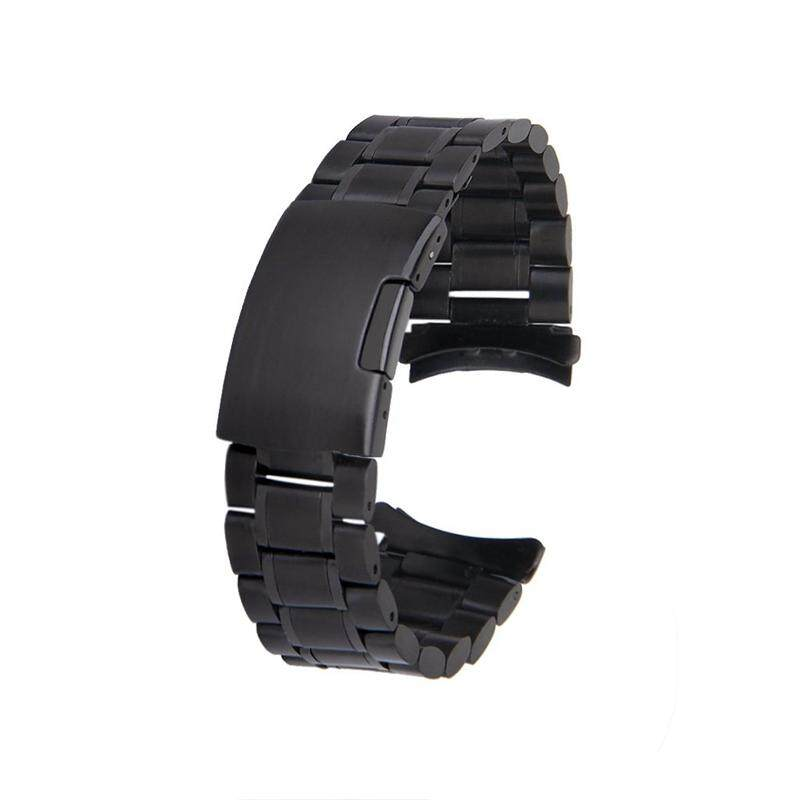 Black Watch Stainless Steel Band Bracelet Links Curved end Belt Buckle Replacement 22mm Malaysia