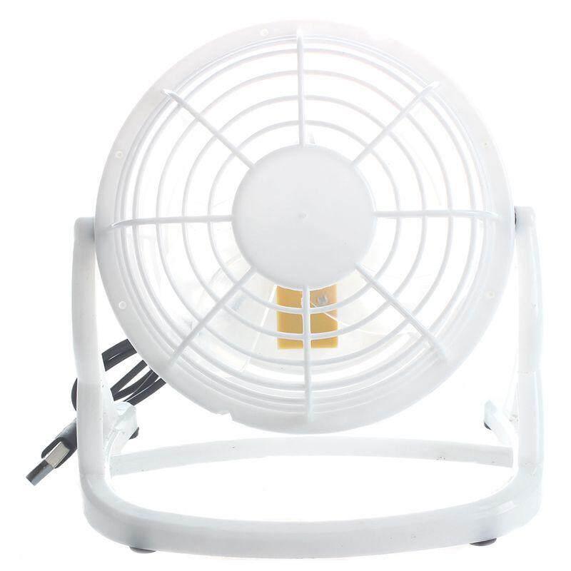 Mini Fan Portable Usb Desk Computer Pc Laptop Silent Color: White By Happyang.