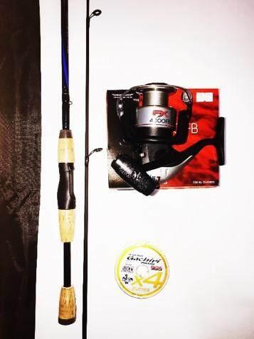 SHIMANO FX 4000 COMBO SHAKESPEARE 6-12LB CARBON ROD