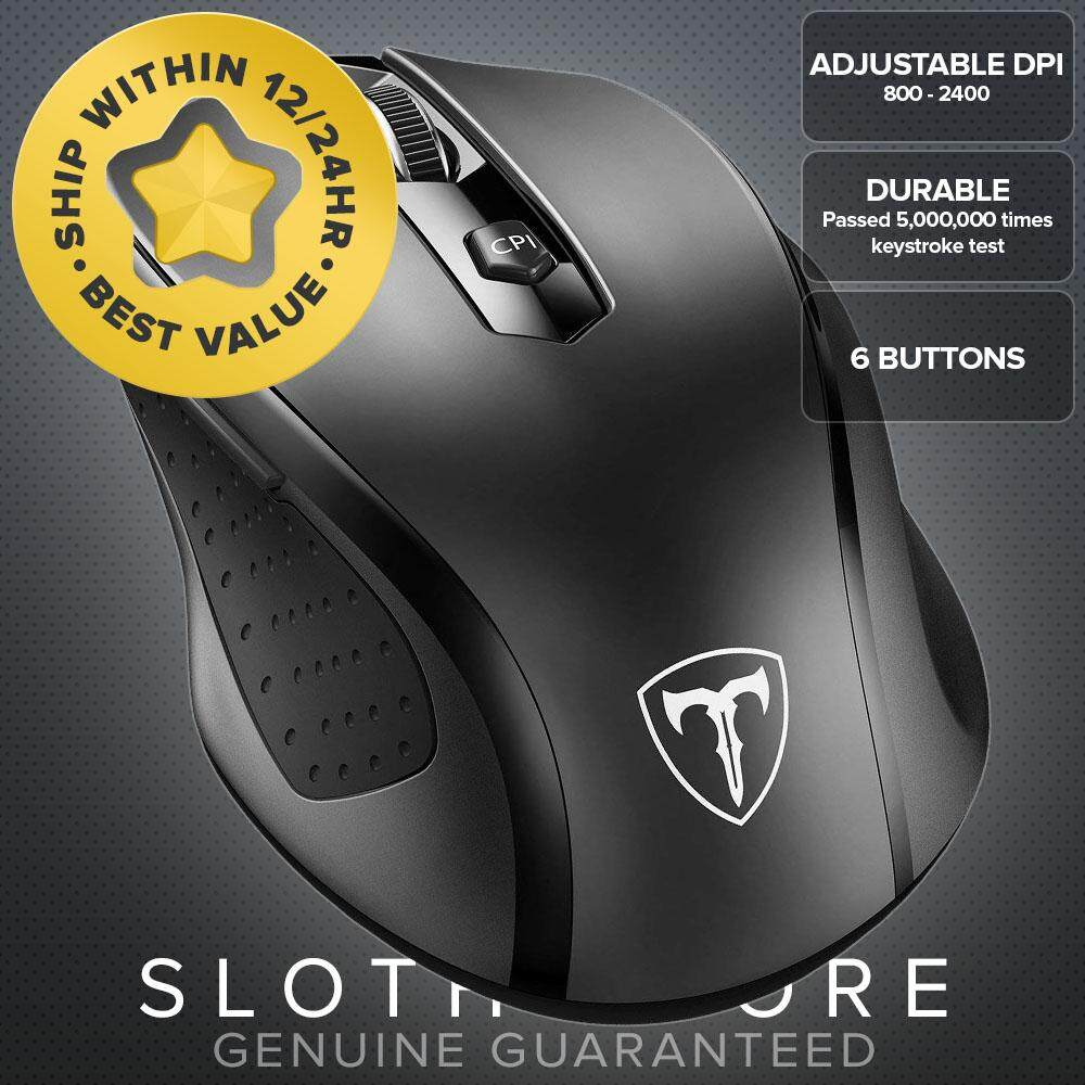 VicTsing MM057 2.4G Wireless Mouse, 5 Adjustable DPI Levels, 6 Buttons GENUINE Malaysia