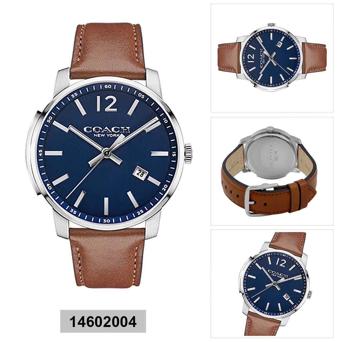 Coach Coach Bleecker Brown Stainless-Steel Case Leather Strap Mens 14602004 Malaysia