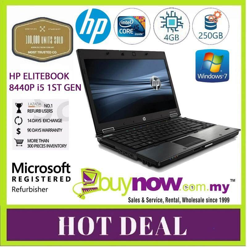 REFURBISHED USED LAPTOP NOTEBOOK PC CPU HP ELITEBOOK 8440p INTEL CORE i5 ,4GB , 250GB Malaysia