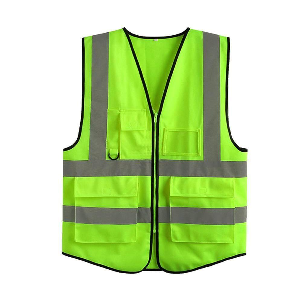 OutFlety Safety Vest Reflective, High Visibility Safety Zipper Vest