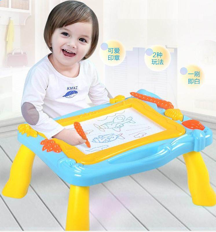 Babycare Kids Baby 2in1 Colorful Sea Magnetic Drawing Board And Drawing Table - 6091 By The Thing Store.
