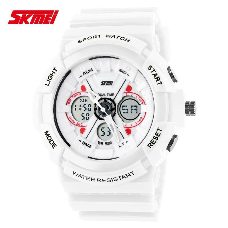 SKMEI A229 Unisex Digital Hybrid Dual Time Waterproof Sports Watch [Ready Stock] Malaysia