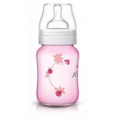 Philips Avent Classic Plus Pink Flower Ladybug Design Bottle 9oz /260ml Single Pack
