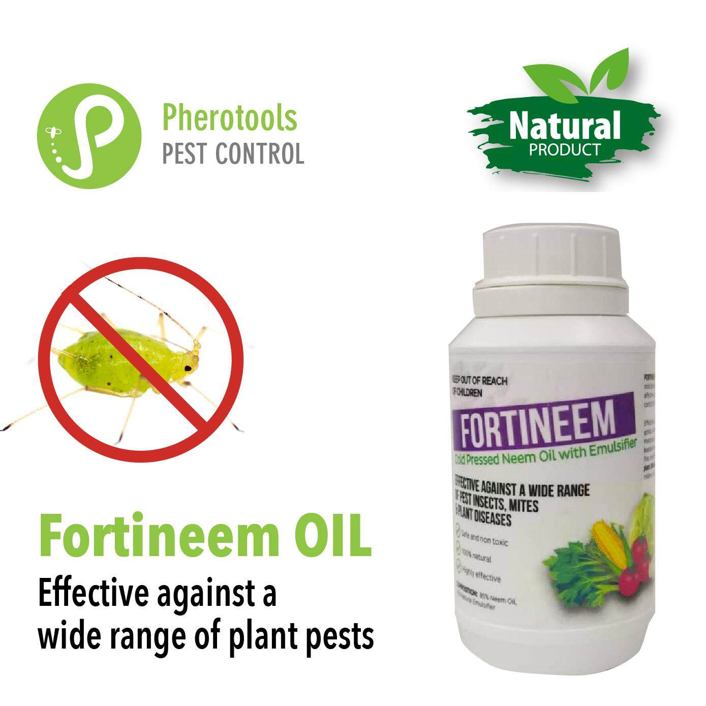 Buy Fortineem OIL (cold pressed neem oil) 250ml organic natural pest  insect, mite and plant diseases for fruits, vegetables, flowers,  houseplants