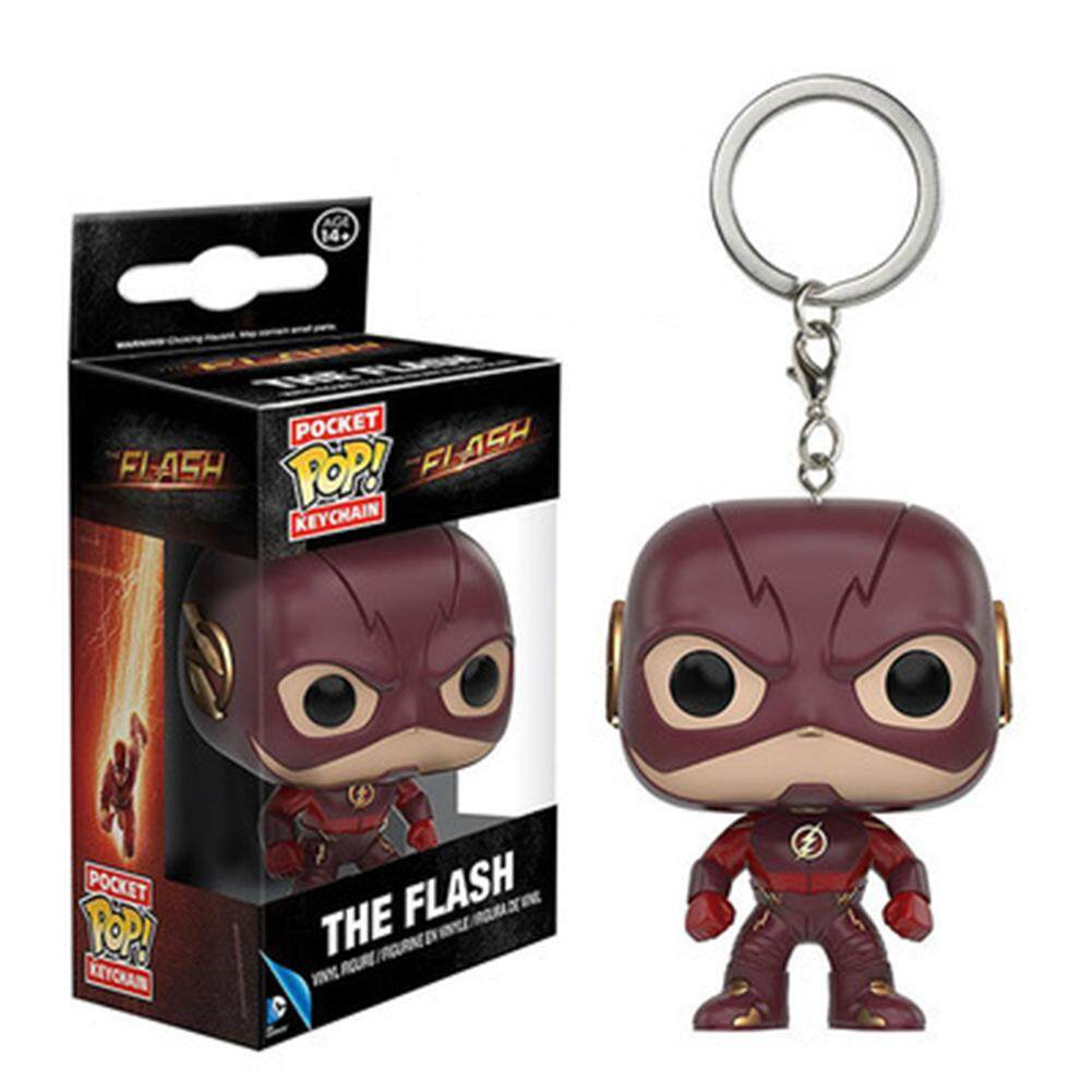 RYT Funko Pop! Keychain Baby Groot Batman SpiderMan DeadPool Vinyl Mini Figure Keyring The flash