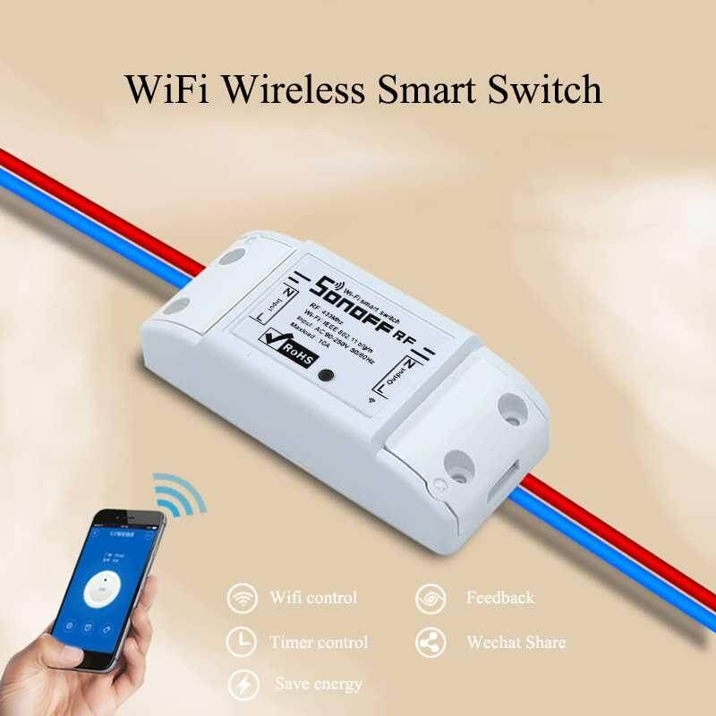 XJING SONOFF RF Smart WiFi Wireless Switch Module For Apple Android APP Control
