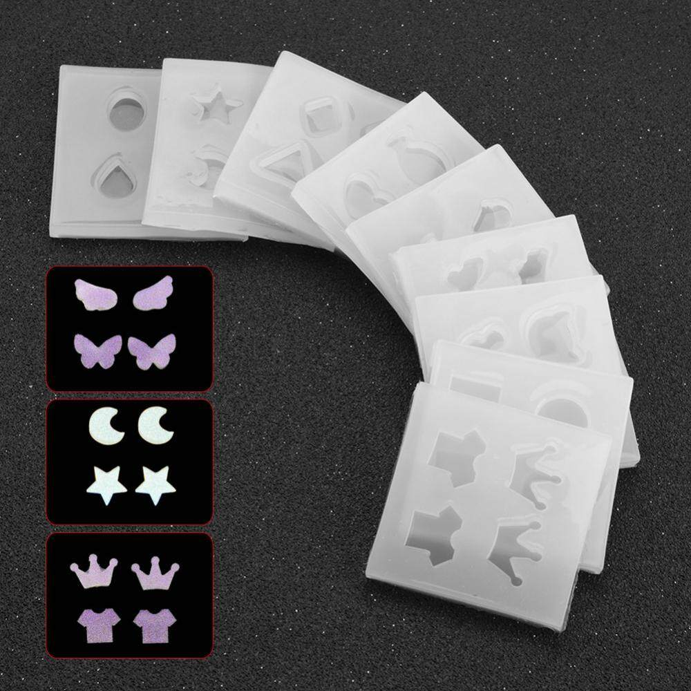 9 Types Women Silicone Mold For Making Earrings Mould Set DIY Handmade Tool Kit Decorations