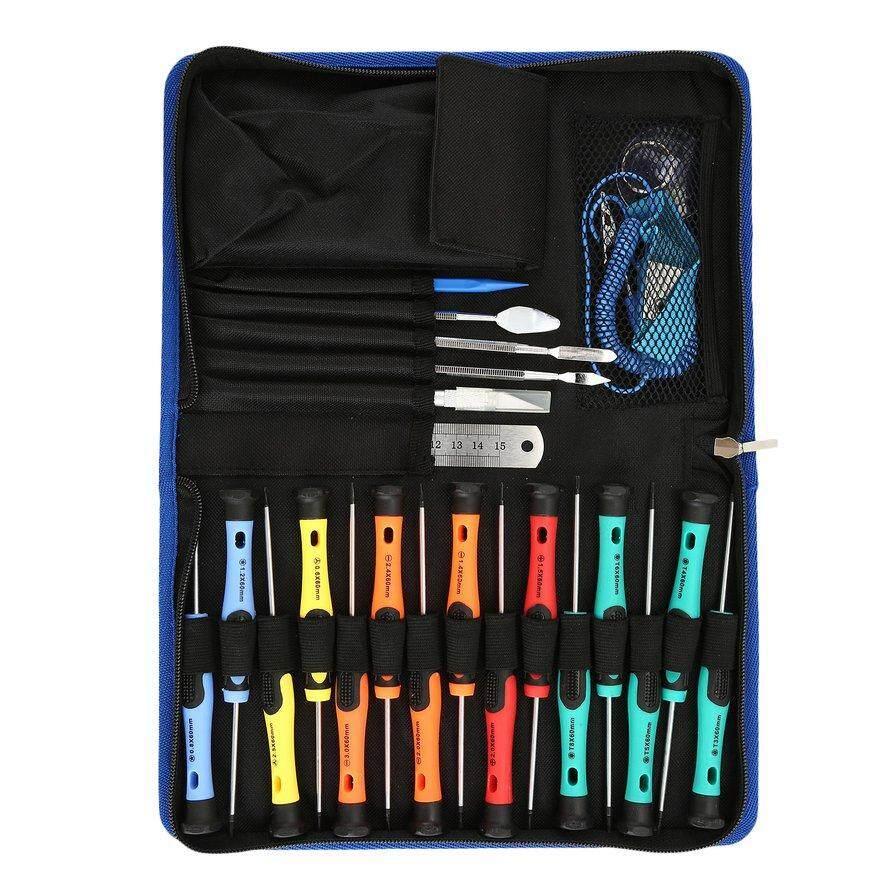 OBBB 30pcs Screwdriver Set Series Kit Phone Dismantling Crowbar Scraper Laptop Tablet iPad Repairing Tool Ruler Tweezers Pry Bar
