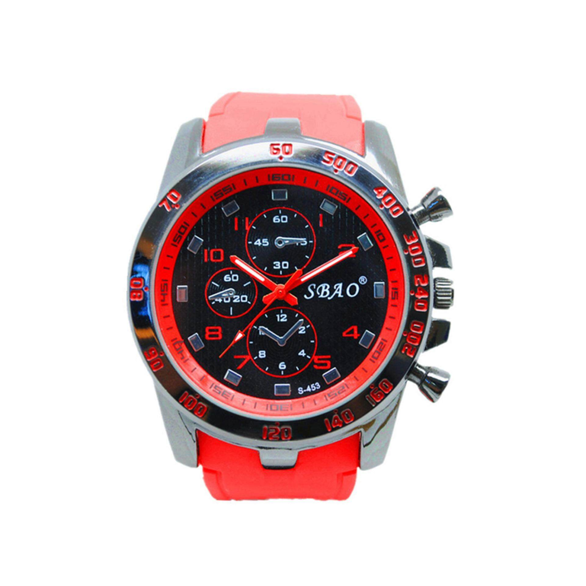 Mens Watch Luxury Stainless Steel Sport Analog Quartz Modern Wrist Watch Red Malaysia