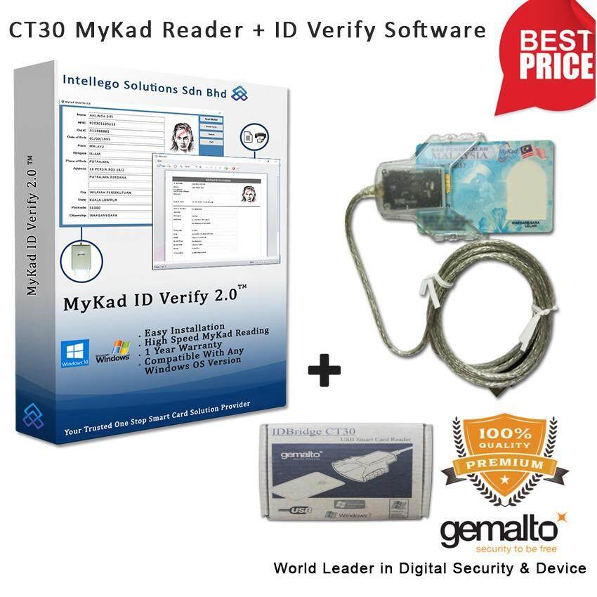 Gemalto IDBridge CT30 MyKad Reader and MyKad ID Verify Software