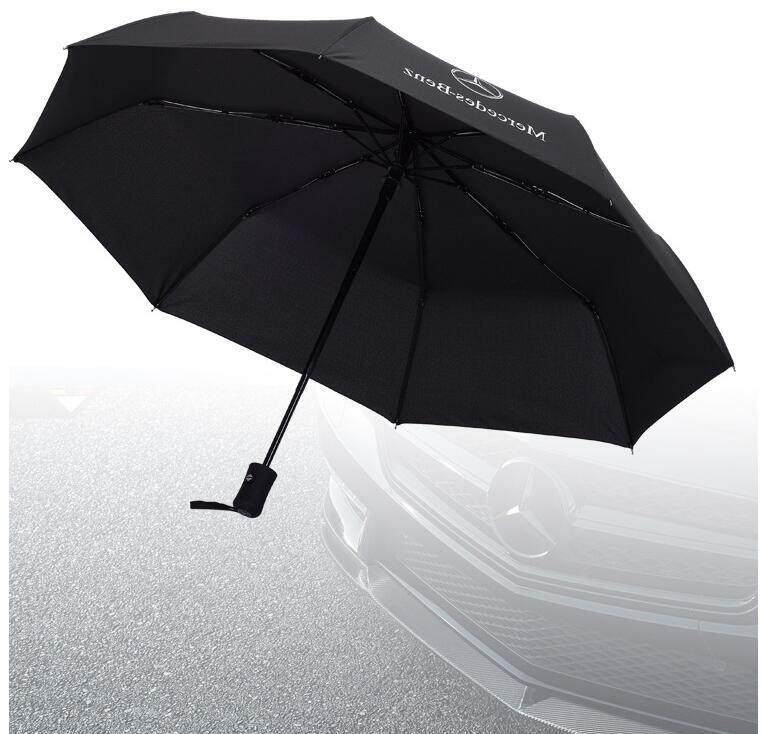 Automatic Folding Umbrella Rain Men Car Logo Windproof Pattern Black Umbrella For Benz E A B C Ml Class W212 W166 W176 By Fashion In Car.