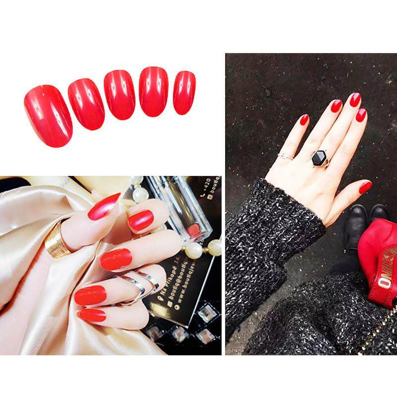 Gel Polish Design Short Length Artificial Nails Extension Design False Nails Tips Press On Manicure