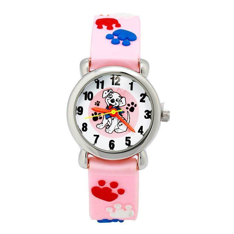 Jewtme Cute Toddler Children Kids Watches Ages 3-8 Analog Time Teacher 3D  Silicone Band c3673c972f