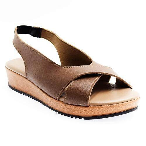 NEW STYLE SCS WOMEN FASHION CROSS STRA FLAT SANDALS O2669
