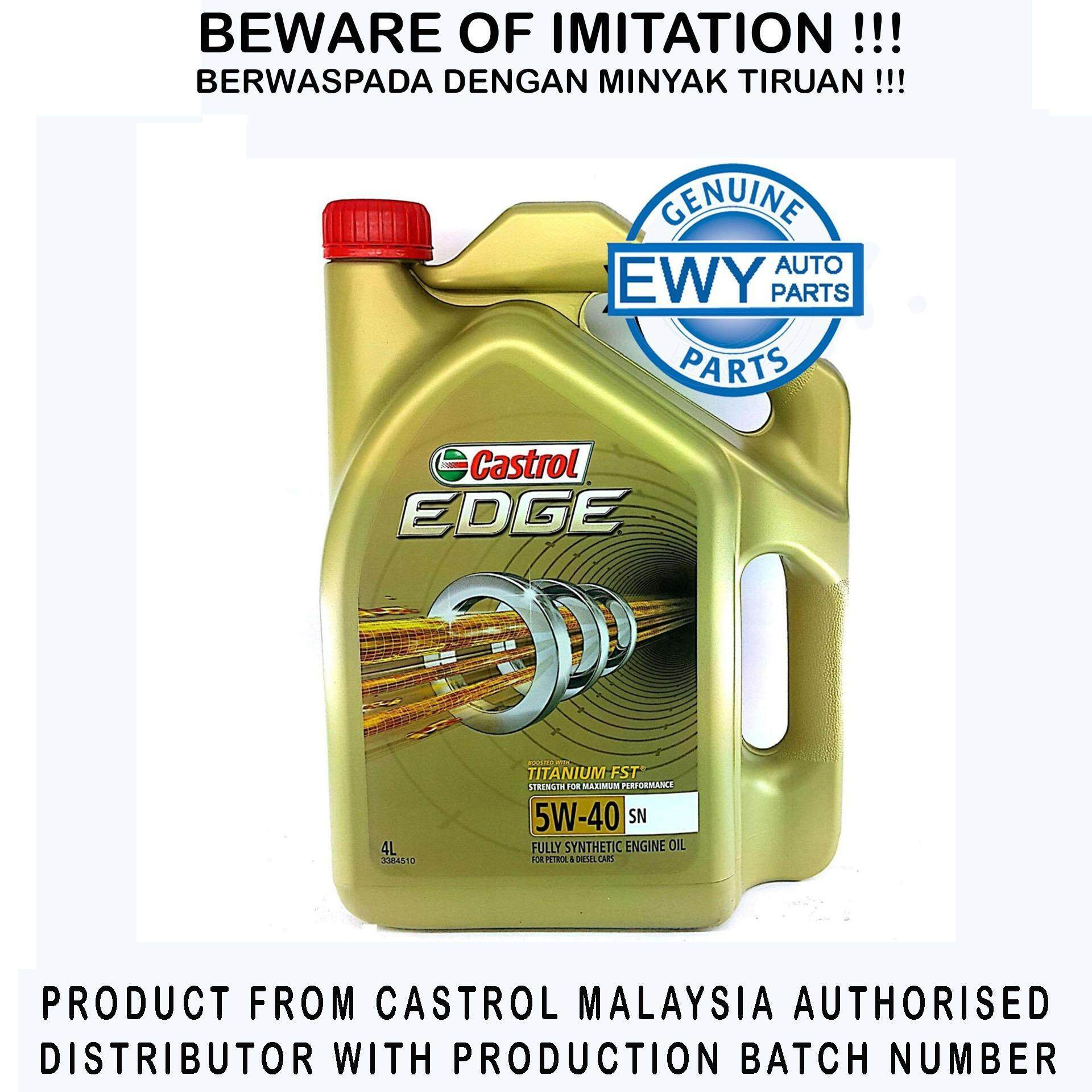 Castrol Engine Oil For The Best Price In Malaysia Magnatec Stop Start 5w 30 Edge Fully Synthetic 40 4l