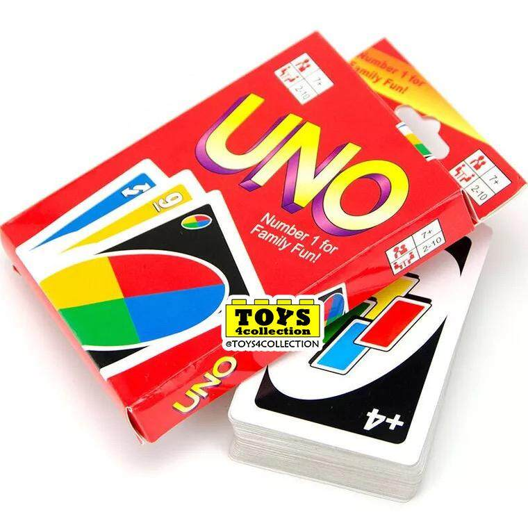 Ready Stocks Uno Family Game Cards By Toys4collection.