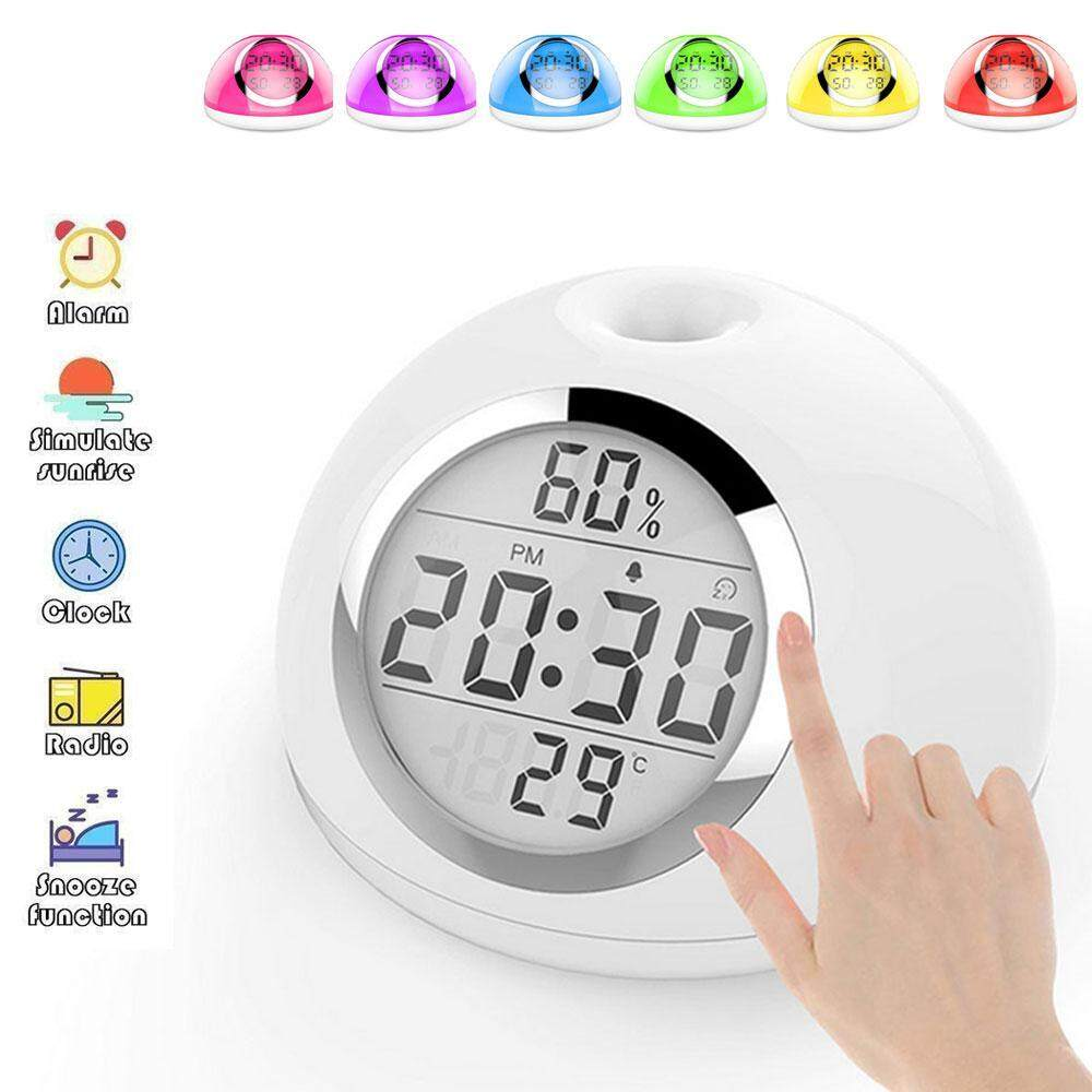 Home Clocks Buy At Best Price In Malaysia Lazada Timer From Old Quartz Clock Electronics For You Teekeer Sunrise Simulation Alarm Snooze Function And Led Display Digital Touch