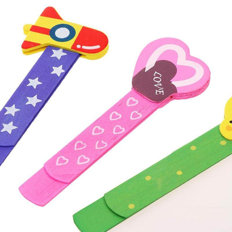 Baoblade 30pcs Lovely Cartoon Wooden Bookmark Paper Clips for Kids Perfect Gift Malaysia
