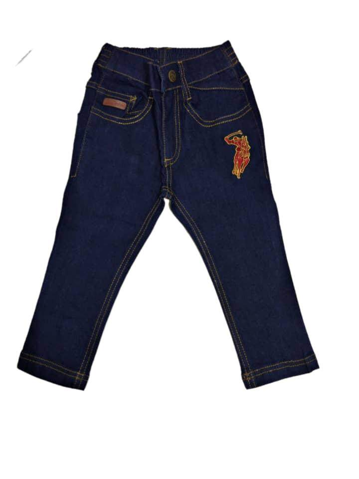 Baby Polo Denim Trousers By Ptg Global.